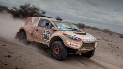 Elektrorenner bei der Rallye Dakar: Akkus stammen von Tesla.