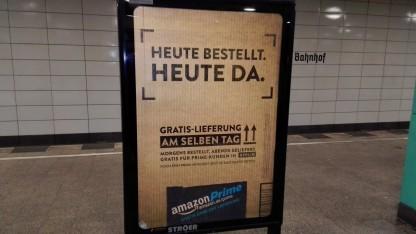 Werbung von Amazon in Berlin