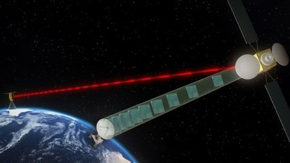 EDRS-A: Übertragungsrate von 1,8 GBit/s, 50 TByte am Tag