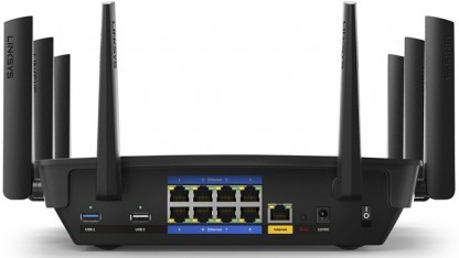 Acht Antennen und acht Gigabit-Ethernet-Anschlüsse: Der EA9500 von Linksys