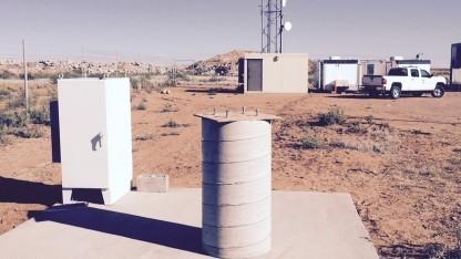 Die Google-Anlagen auf dem Weltraumbahnhof in New Mexico