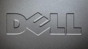 Dell-Logo im Oktober 2015 in New York