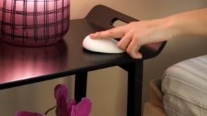 Der Sensor auf dem Nachttisch