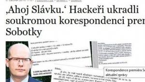 Tschechische Medien veröffentlichten Auszüge von Sobotkas E-Mails.