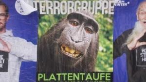 Mit dem Affen-Selfie wird inzwischen auch auf Plakaten geworben.
