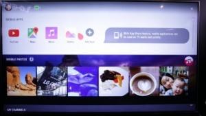 Der neue persönliche Bildschirm von WebOS 3.0 auf einem neuen Smart TV von LG