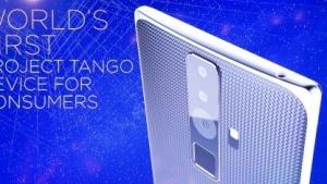 So könnte Lenovos Project-Tango-Smartphone aussehen.