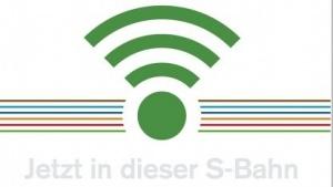 Aufkleber in der S-Bahn