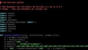 Ein kleines Stück Python-Code erlaubt den unautorisierten Zugriff auf Fortigate-Firewalls.