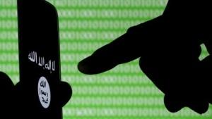 IS-Logo auf einem Smartphone