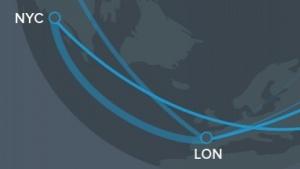 Eine der wichtigsten WLAN-Langstrecken-Verbindungen liegt zwischen New York und London.
