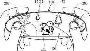 Grafik des ovalen Touchscreens mit Analogsticks