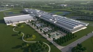 Computergrafik des neuen Rechenzentrums in Clonee