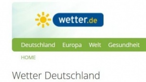 Startseite von Wetter.de