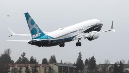 Die Boeing 737MAX bei ihrem Jungfernflug
