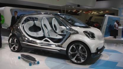 Konzept für einen Elektro-Smart (Symbolbild): Neuer Akku soll Ende des Jahres auf den Markt kommen.