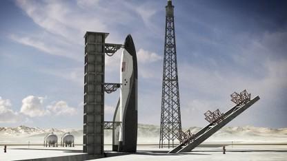 Der wiederverwendbare Raumgleiter mit Hitzeschild wurde nie real gebaut.