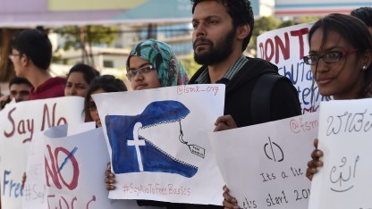 Anti-Facebook-Protest in Indien