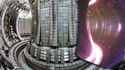 Blick in den Fusionsreaktor Jet: Fusionsexperimente auf der Werkbank funktionieren nicht.