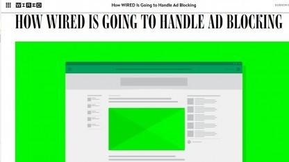 Auch die Website Wired.de will demnächst eine Werbeblockersperre aktivieren.