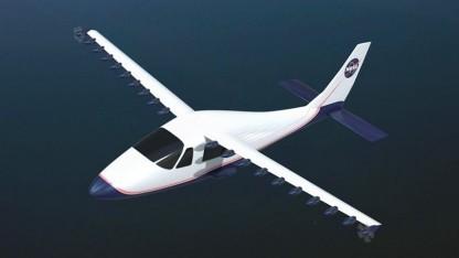 Nasa-Konzept für ein Elektroflugzeug: doppelt so viel Auftrieb wie herkömmliche Systeme