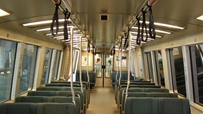 Echt oder Attrappe: Überwachungskamera in einem BART-Zug