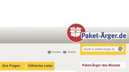Die Plattform Paket-Ärger.de