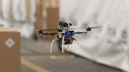 Drohne im Gang: Tests verliefen nicht immer perfekt.