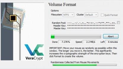 Mit Veracrypt erstellte Volumes sollen jetzt doppelt so schnell geladen werden.