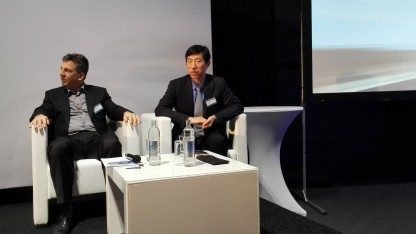 Jack Zhu, Director Huawei Access Marketing (rechts)