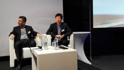 Jack Zhu, Director Huawei Access Marketing (rechts)