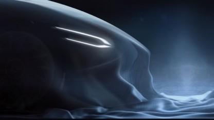 Noch ist vom E-Supersportwagen mit Gasturbine als Range-Extender nicht viel zu sehen.