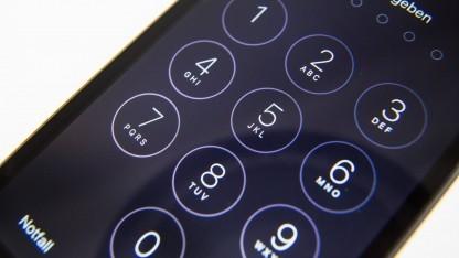 Sperrcode-Bildschirm auf einem iPhone