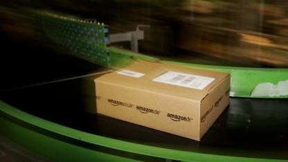 Päckchen in Versandzentrum von Amazon