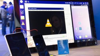Debian und Android auf einem Display