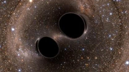 Zwillings-schwarze-Löcher: einen Erddurchmesser voneinander entfernt
