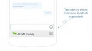 Mit AirIME lassen sich einfach Texte über die PC-Tastatur auf dem Smartphone eingeben.