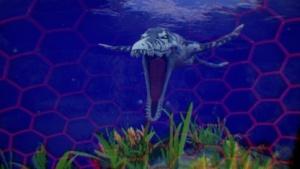 Ein großer Pliosaurus greift uns in Time Machine VR an.
