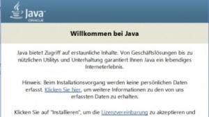 Einige Versionen des Java-Installationsprogramms sind verwundbar.
