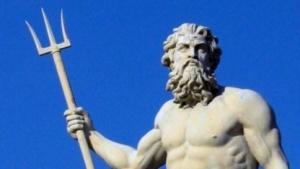 Poseidon mit seinem Dreizack