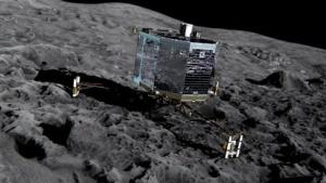 Philae auf dem Kometen 67P/Tschurjumow-Gerassimenko: zweieinhalb Tage zum Datensammeln