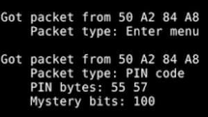 Die PIN-Übertragung wird nicht verschlüsselt.