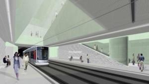 Darstellung eines neuen Bahnhofs der Stadtbahnlinie U71