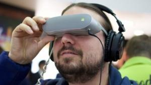 Die 360 VR auf der Nase eines Golem.de-Redakteurs
