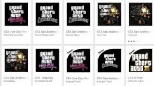 Eine Auswahl der gefälschten Spiele-Apps