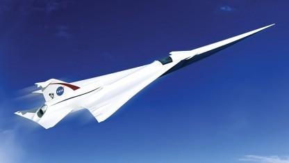 Konzept eines Überschalljets: das Erbe der Überschall-X-Flugzeuge fortführen