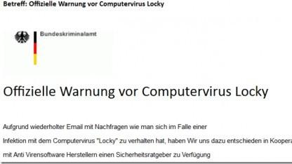 Ein Screenshot der Betrüger-Mail