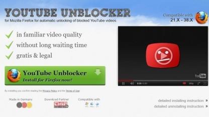 Mozilla hat die Erweiterung Youtube Unblocker blockiert.
