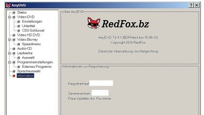 Installation der neuen Softwareversion von AnyDVD