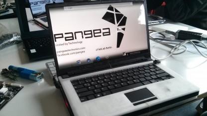 Der funktionsfähige Prototyp des Notebooks
